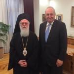 Με τον Αρχιεπίσκοπο Αλβανίας κ.κ.Αναστάσιο