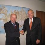 Με Lamberto DINI, τέως πρωθυπουργό Ιταλίας στην ΙΣΛΑΝΔΙΑ 26-9-12