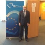 Σε συνεδριάση του Ευρωπαϊκού Λαϊκού Κόμματος, Φεβρουάριος 2016