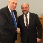 Με τον Πρόεδρο του Ευρωπαϊκού Κοινοβουλίου κ.Σούλτς