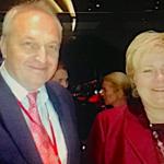 Με την Πρωθυπουργό της Νορβηγίας Έρνα Σόλμπεργκ (11/10/15 Stavanger Νορβηγίας)