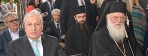 Με τον Αρχιεπίσκοπο κ.κ.Ιερώνυμο στα εγκαίνια του Νέου Μουσείου Θήβας