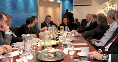 Διοικητική Επιτροπή ΚΕΕ: από αριστερά Χρ.Δήμας, Κων.Μίχαλος, Ντ.Μπακογιάννη, Βαγγ.Μπασιάκος, Παν.Αγνιάδης
